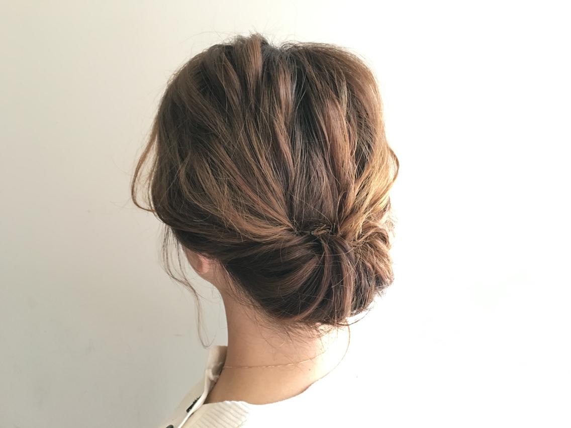 浴衣 髪型 シンプル